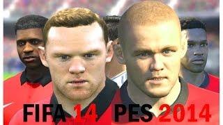 FIFA 14 vs PES 2014 Faces - Manchester United (Face Comparison)