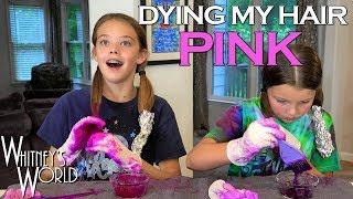 I Dyed My Hair Pink! | Whitney & Blakely Bjerken