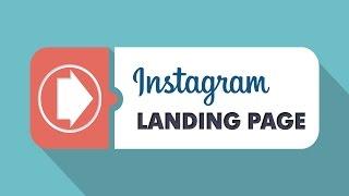 Как создать лендинг в инстаграм в SocialHammer