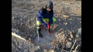 видео Установка анкерных болтов в фундамент