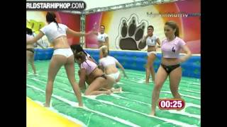 Repeat youtube video Women's Slip N Slide Soapy Soccer (Football) Highlights