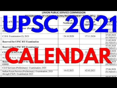 new upsc revised calendar 2021 upsc calendar 2021 22 upsc calendar