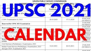 new upsc revised calendar 2021 upsc calendar 2021-22 upsc calendar 2021 pdf download