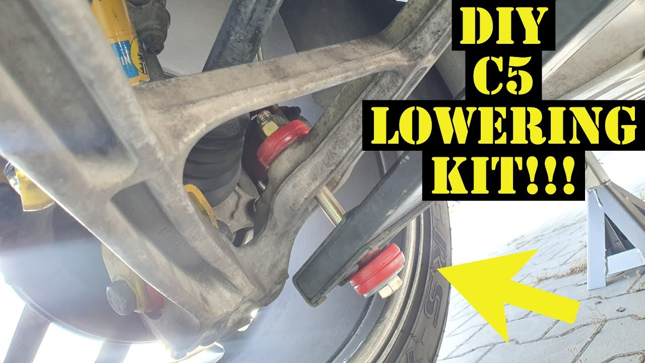 Budget $40 Rear lowering kit for the C5Z (How to lower C5 / C6 Corvette)