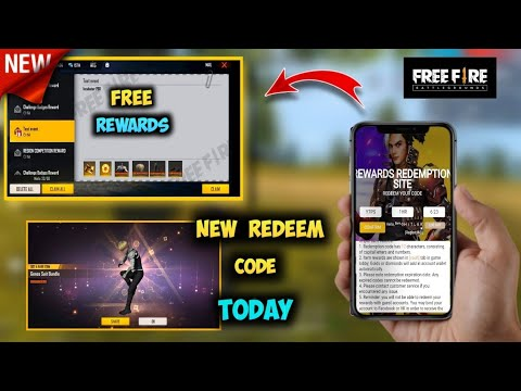 Free Fire New Redeem Code Today 2021 Ff New Codes Rewards Redemption Ff Live Redeem Codes Giveaway Youtube