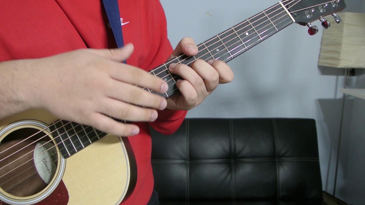 How To Play An B Flat Add 9 Chord Guitar Tutorial Youtube