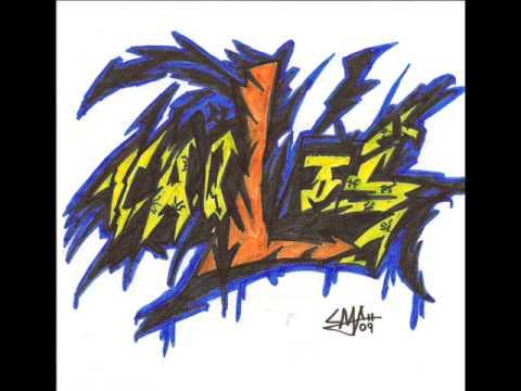 Haciendo un graffiti con mi nombre - YouTube