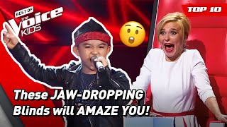 Unbelievable Shocking and JAW-DROPPING Blind Auditions in The Voice Kids! 😲  Top 10