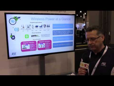 STMicro demonstrates their Qi-compatible wireless power system