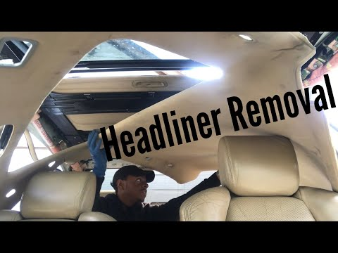 How To Remove Acura TL Headliner