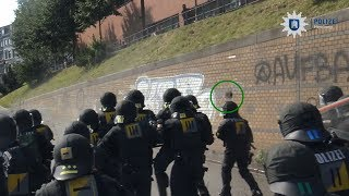 G20-Fahndung: Polizei-Videos zeigen Stein- und Flaschenwerfer bei G20 in Hamburg