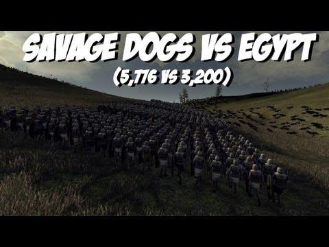 Total War: Rome II - 5,776 Savage Dogs vs 3,200 Egypt Gameplay  