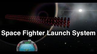 Battlestar Galactica Fighter Launch System in KSP