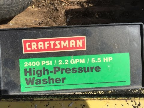 Craftsman 2400PSI 2.2GPH 5.5HP Honda Pressure Washer