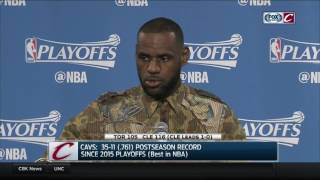 LeBron James postgame press conference | Cavs-Raptors Game 1 | 2017 NBA PLAYOFFS