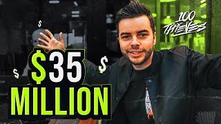 MY COMPANY 100 THIEVES RAISED $35,000,000