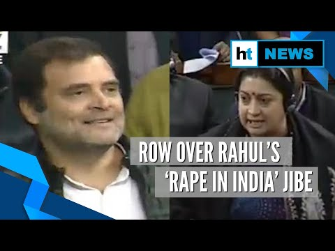 'Rahul Gandhi gave clarion call to rape': Smriti Irani lashes out in Lok Sabha