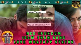 #Nee Irukkum 😍 Idam Than Enakku 😘 Kovilaiyae | Arya 💖 Nazim | love 💙 whatapp 💛 status