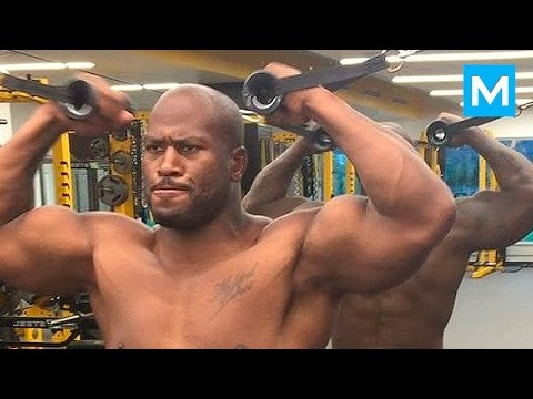 Strength Training for American Football - James Harrison (Steelers) | Muscle Madness