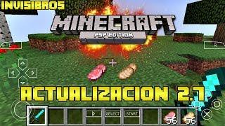 Actualización Minecraft 2.7 PSP | by Invisibros | HD | luigi2498