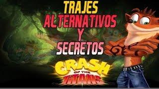 Guia 100% Crash Of The Titans | Extras:Trajes Desbloqueables, Alternativos y Secretos