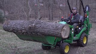 Can A John Deere 1025R Move and Load Huge Walnut Logs?