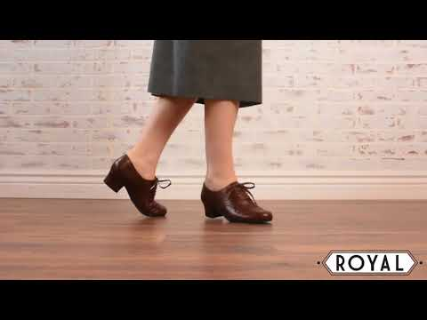 Ruth 1940s Oxfords In Brown By Royal Vintage
