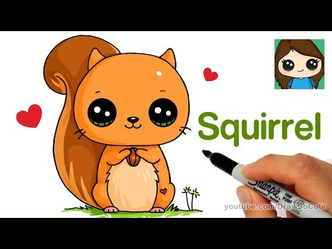 How To Draw A Squirrel Easy Youtube
