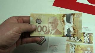 The new plastic money for canada and a  new tool