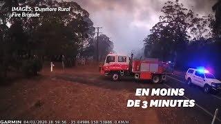 L'effrayante vitesse des incendies australiens en quelques minutes