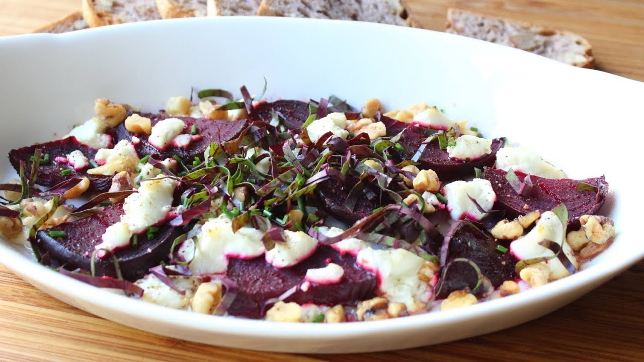 Roasted Beets with Goat Cheese and Walnuts - Easy Roast Beets Recipe. Food  Wishes