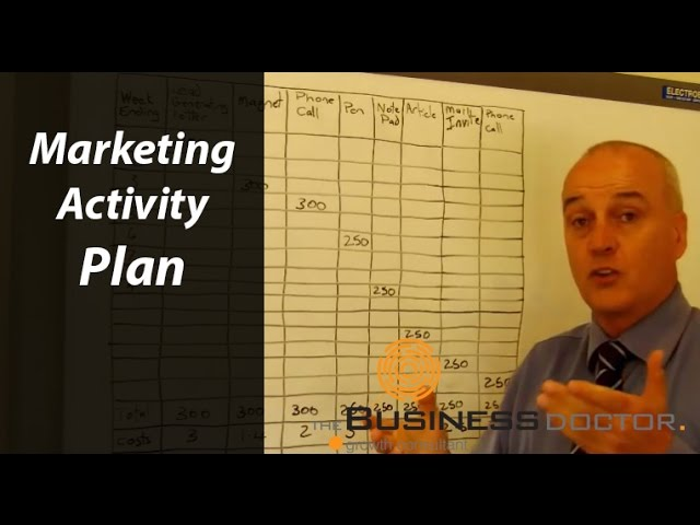Marketing Activity Plan - The Business Doctor