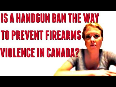 Will a handgun ban in Canada cause criminals to turn in their illegal firearms? Trudeau considering.