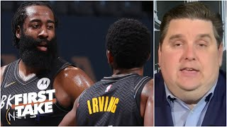 Brian Windhorst is concerned about Kyrie Irving and James Harden's chemistry | First Take