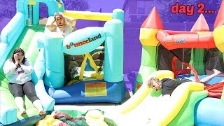 LAST TO LEAVE THE BOUNCY HOUSE WINS $10,000 CHALLENGE!