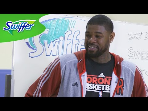 Amir Johnson Learns How to Clean: Swiffer Man Clean Ambassador