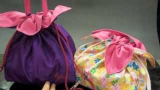 Tutorial inspirado na bolsa japonesa em formato de pétalas