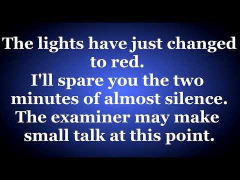 Mock Driving Test - Mock Test Including Independent Driving