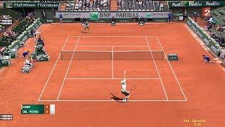 John Isner vs Juan Martín del Potro - Tennis Elbow 2013 - PC Gameplay