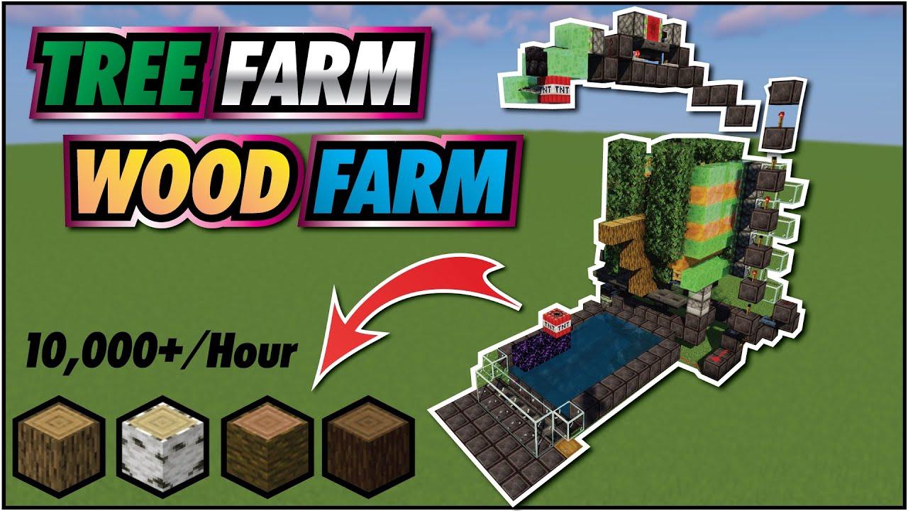 Minecraft Wood Farm 26.266+ Tutorial  Easy Tree Farm