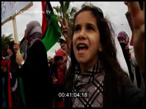 Women's March During Libyan Civil War, Benghazi, Libya, 2011