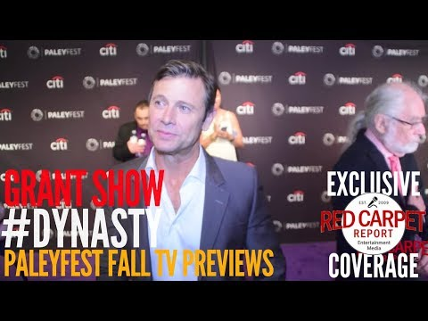 Grant Show #Dynasty interviewed at The CW series 'Dynasty' preview at PaleyFest