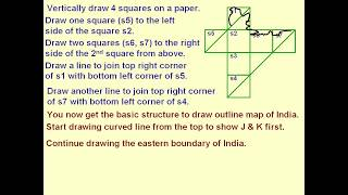HOW TO DRAW INDIA MAP IN 2 MINUTES