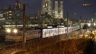 2017/02/11 [甲種輸送] 東京メトロ15000系電車 (東西線用) 16000系電車 (千代田線用)