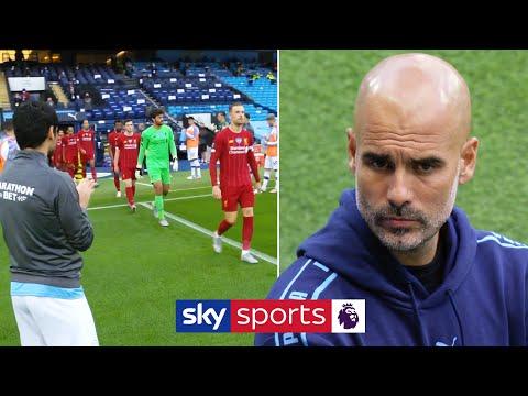 Man City give Premier League champions Liverpool guard of honour 👏