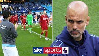 Baixar Man City give Premier League champions Liverpool guard of honour 👏