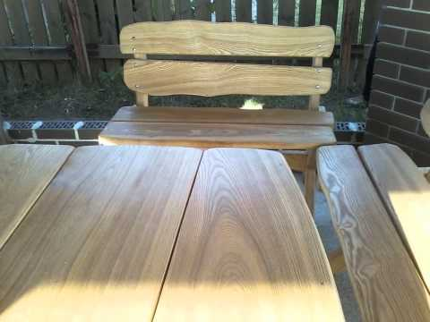 Садовая мебель из дерева -- красивые идеи