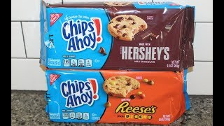 Nabisco Chips Ahoy! Cookies made with Hershey's Milk Chocolate & Reese's Mini Pieces Review