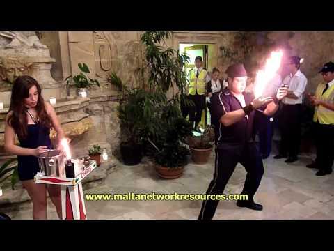 Fireplay at Notte Bianca Malta in Valletta