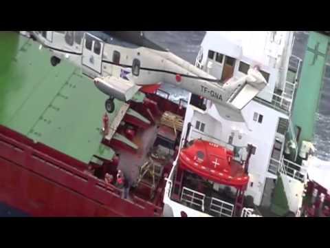 Icelandic air rescue team at work